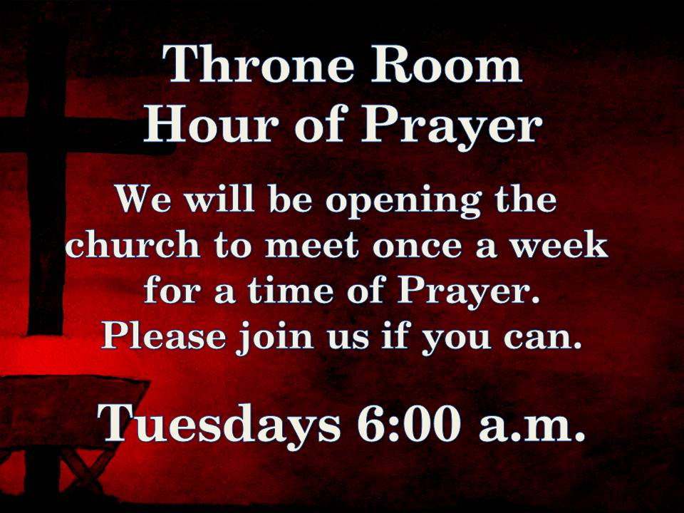 Throne room prayer - revised
