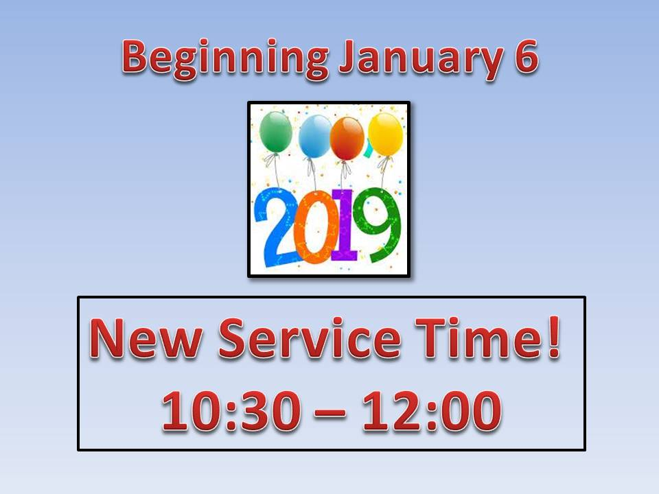 New Service time 2019