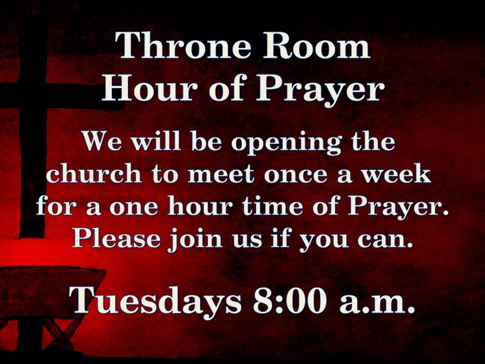 New Tuesday prayer time