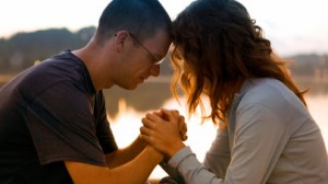 husband and wife praying