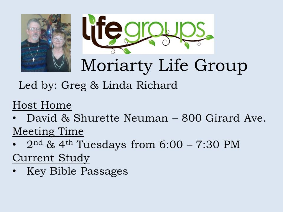 Moriarty Life Group
