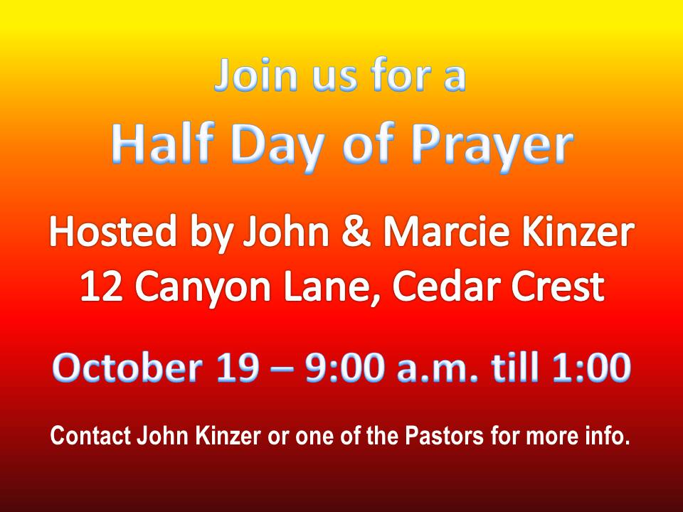 half day of prayer