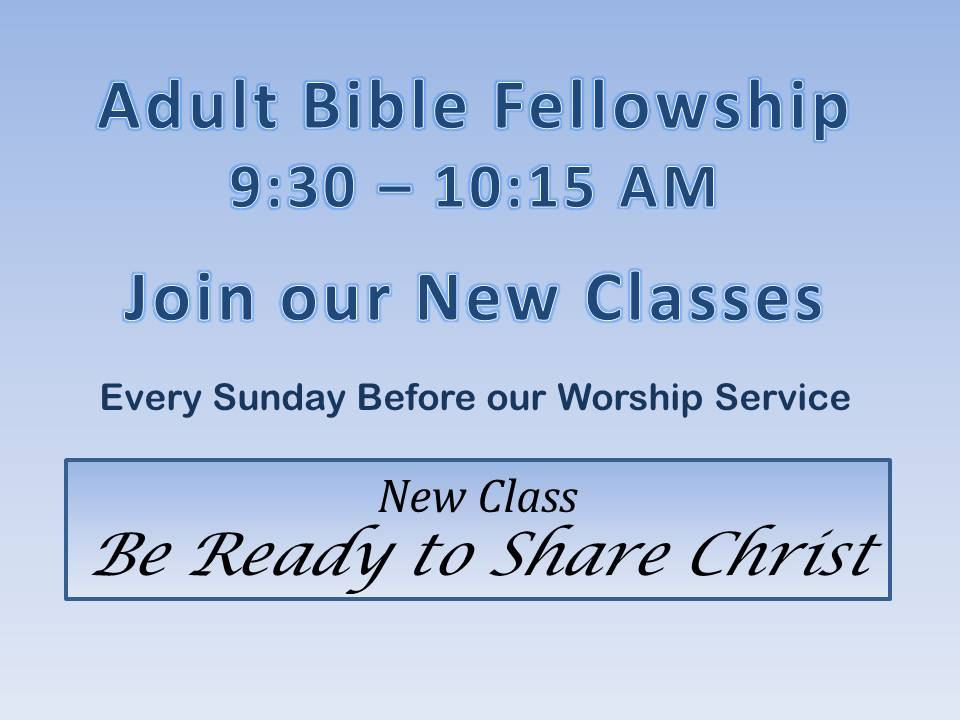 Be Ready to Share Christ
