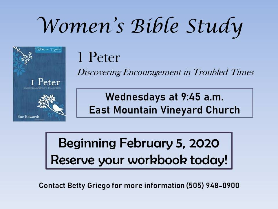 Womens bible study feb 2020