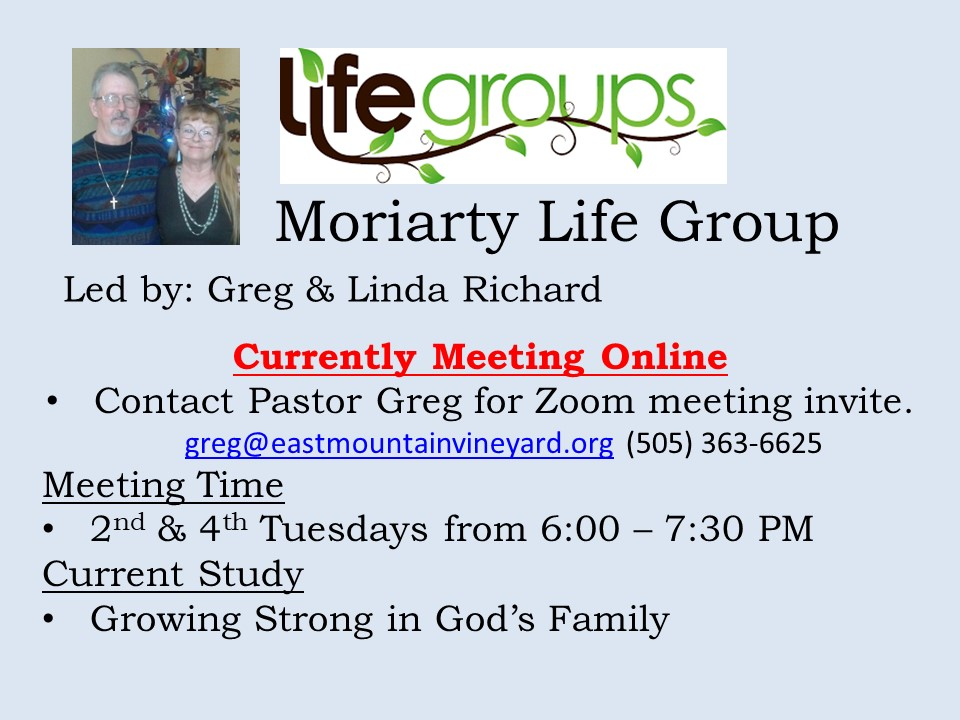Moriarty Life Group 2020